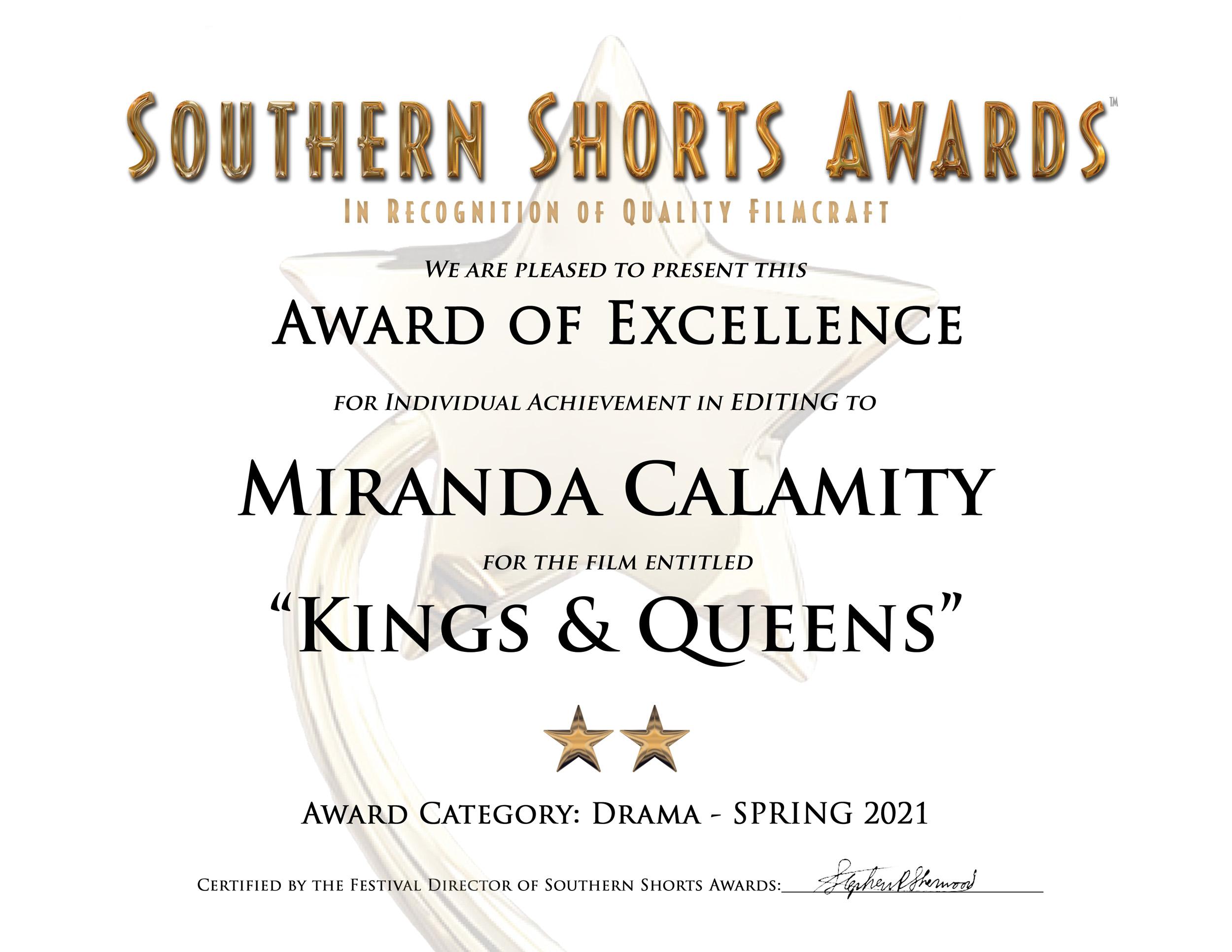 Kings & Queens-Drama-Editing