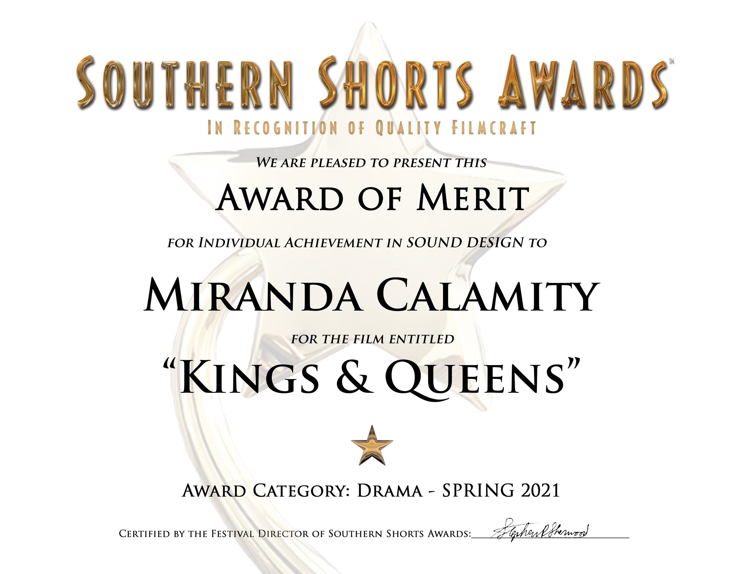 Kings & Queens-Drama-Sound Design