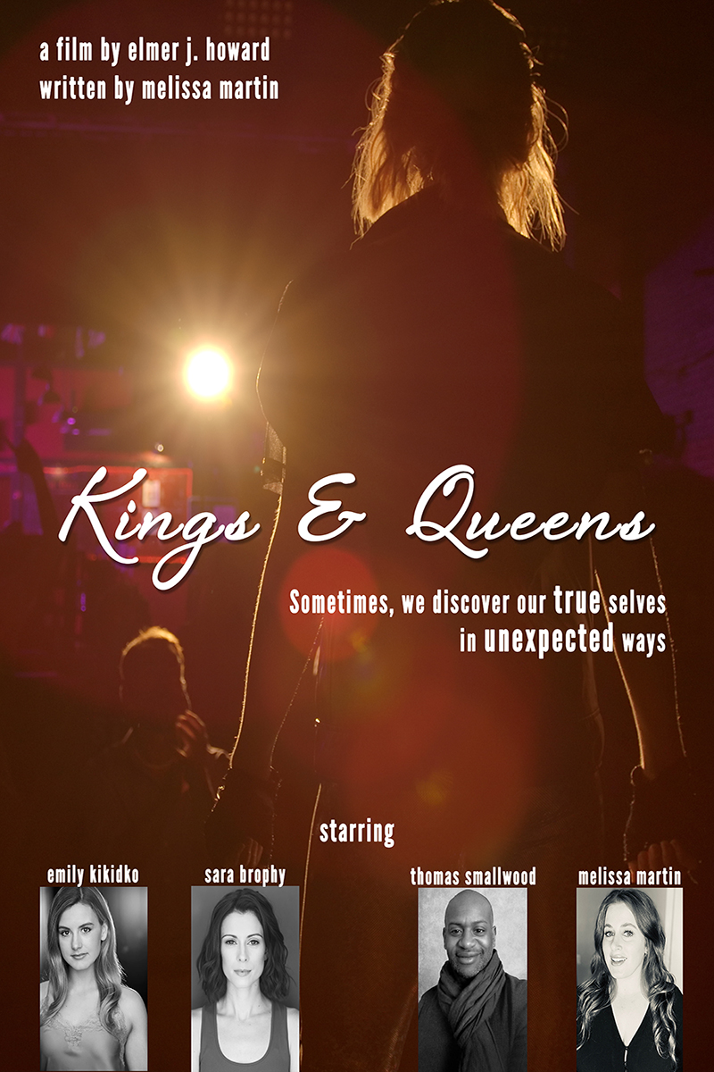 Kings & Queens Poster - a woman in a leather vest stands on stage in front of a spotlight